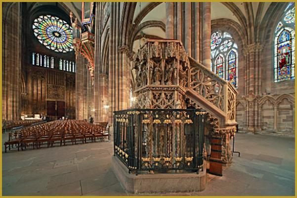 Strasbourg : Cathédrale Notre-Dame (Le chien de Geiler)